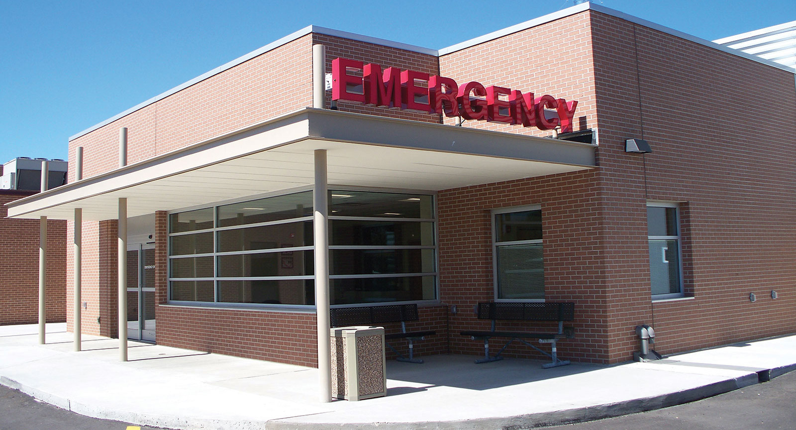 Exterior shot of the Prowers Medical Center Emergency Department entrance