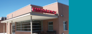 Exterior shot of the Emergency Department entrance at Prowers Medical Center