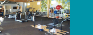 Prowers Medical Center Rehabilitation Gym with workout equipment for patients to use